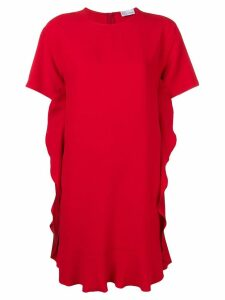 Red Valentino ruffle trim shift dress