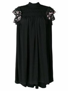 Nº21 ruffle sleeve shift dress - Black
