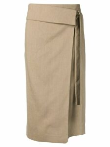 Joseph asymmetric midi skirt - Neutrals