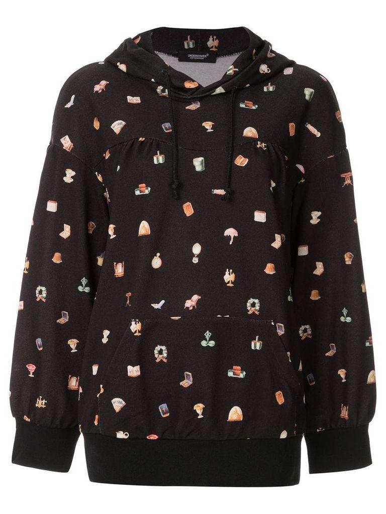Undercover black graphic hoodie