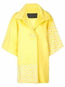 Rubin Singer chevron detail coat - Yellow
