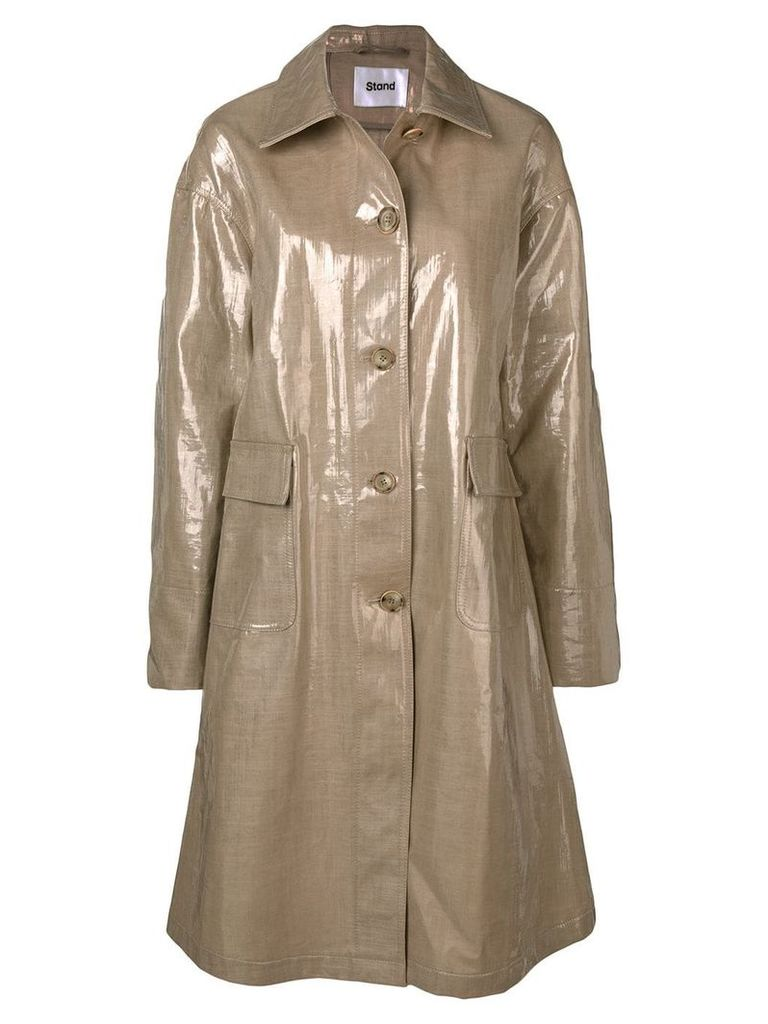 Stand single breasted coat - Neutrals
