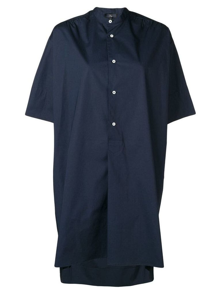 Fay oversized shirt dress - Blue