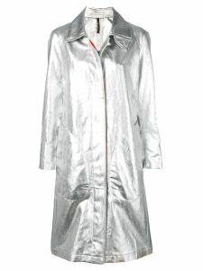 Santoni metallic trench coat - Silver