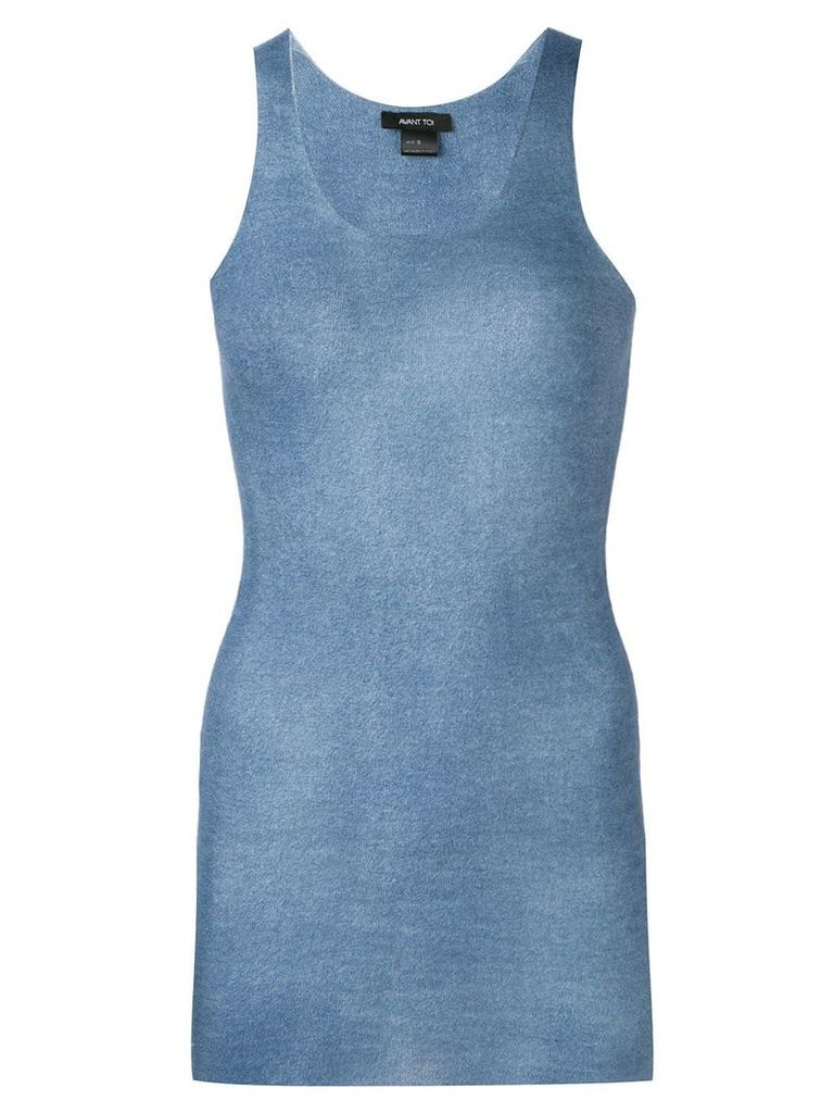 Avant Toi knitted tank top - Blue