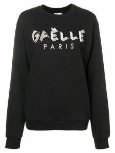 Gaelle Bonheur logo print sweater - Black