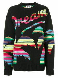 MSGM oversized Dream sweater - Black
