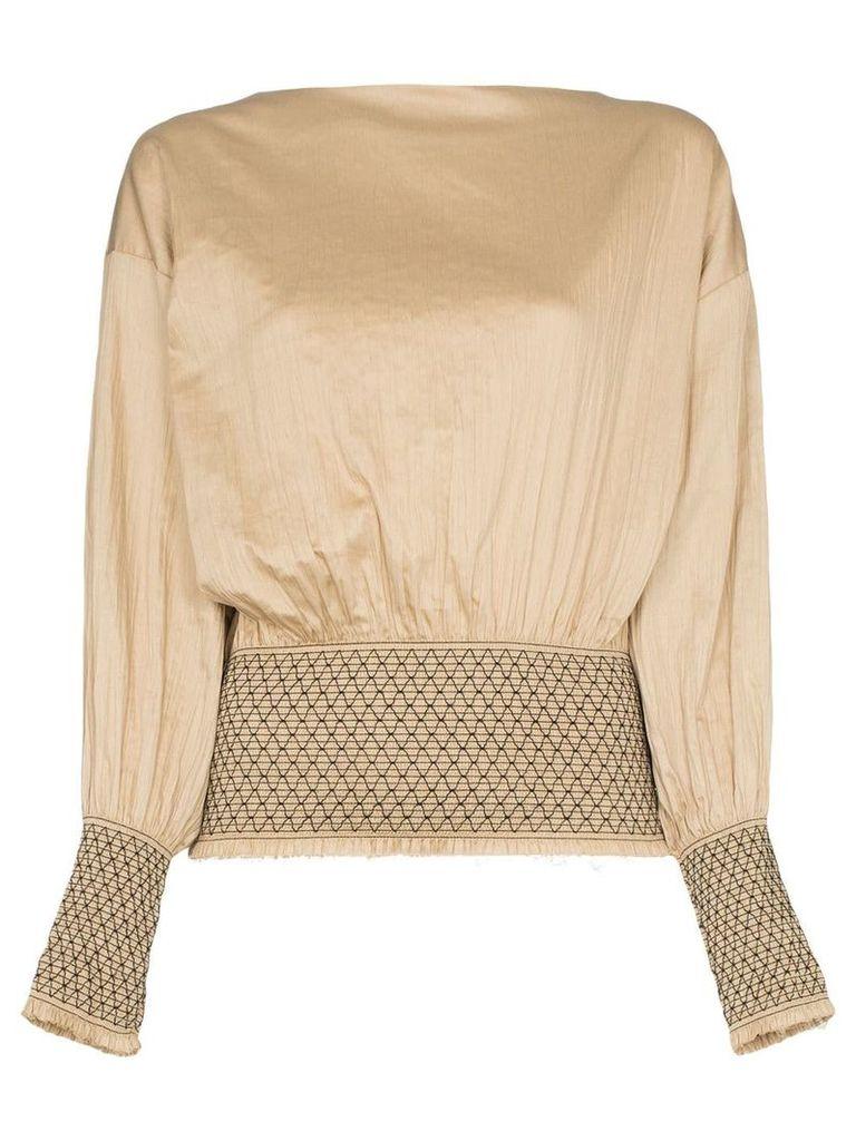 Toteme orsaria cotton blouse - Neutrals