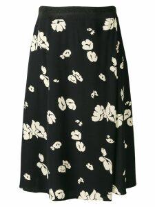 A.P.C. floral print midi skirt - Black