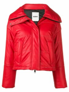 Yves Salomon Army cropped padded jacket - Red