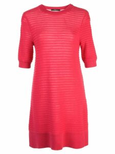 Derek Lam Short Sleeve Silk Cashmere Knit Top - Red