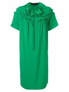 Rochas ruffled shift dress - Green