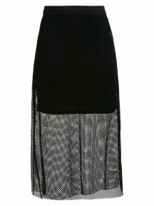Tufi Duek sheer midi skirt - Black