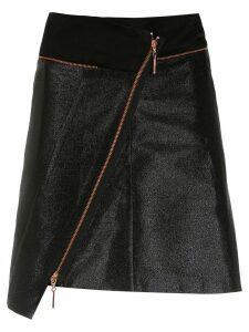Tufi Duek metallic asymmetric skirt - Black