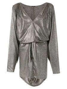 Tufi Duek metallic dress - Grey