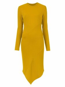 Tufi Duek ribbed midi dress - Yellow
