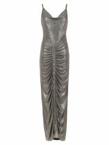 Tufi Duek metallic long dress - Grey