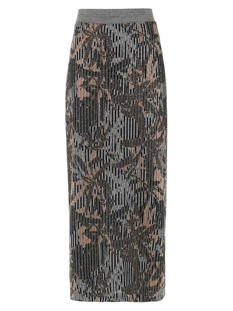 Tufi Duek metallic midi skirt - Multicolour