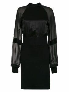 Tufi Duek short silk dress - Black