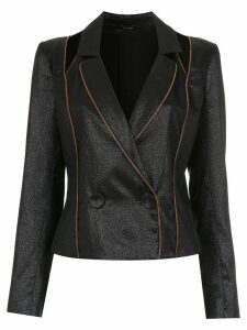 Tufi Duek panelled metallic blazer - Black