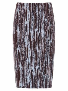 Tufi Duek printed pencil skirt - Black