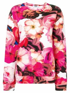 MSGM pink floral sweater