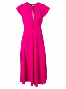 Rochas flared collar dress - Pink