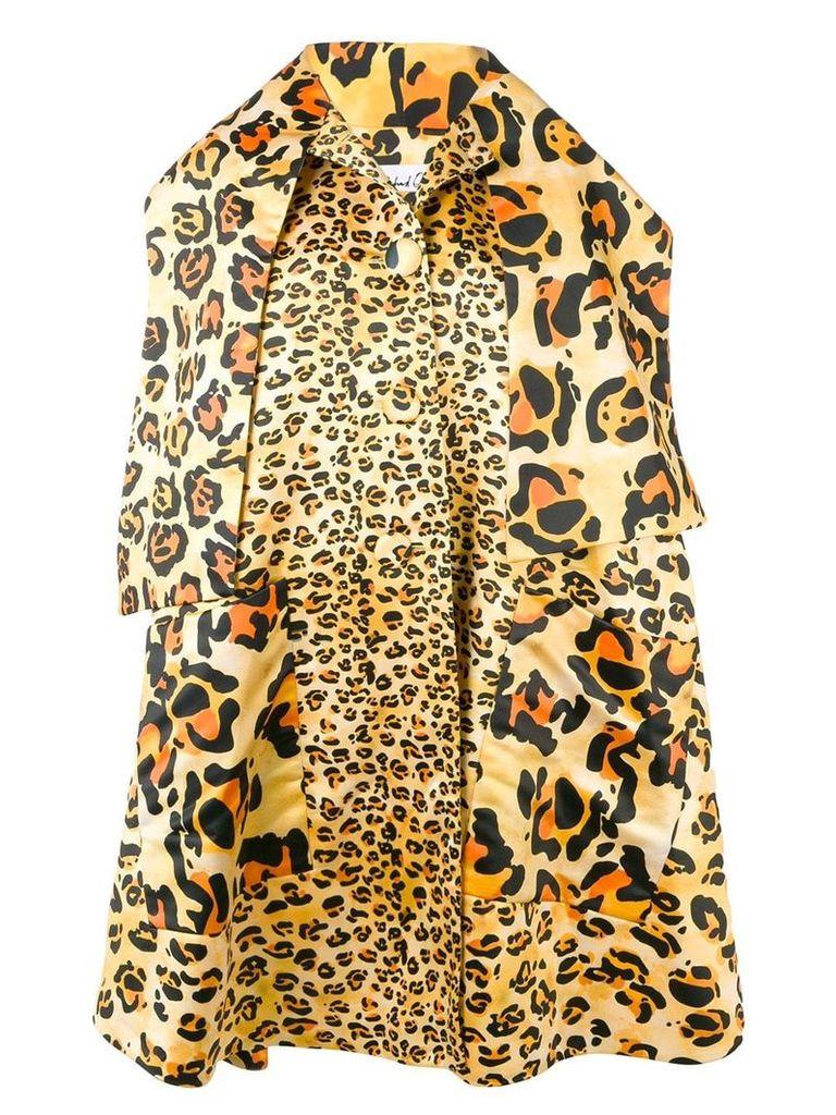 Richard Quinn leopard oversized coat - Yellow