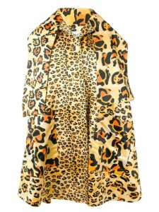 Richard Quinn leopard oversized coat - Yellow