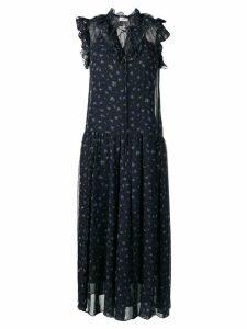 Coach mid-length floral print dress - Blue