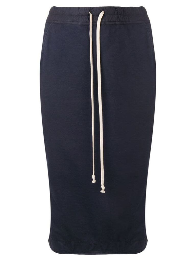 Rick Owens DRKSHDW jersey pencil skirt - Blue