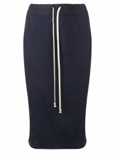 Rick Owens DRKSHDW jersey pencil skirt - Blue