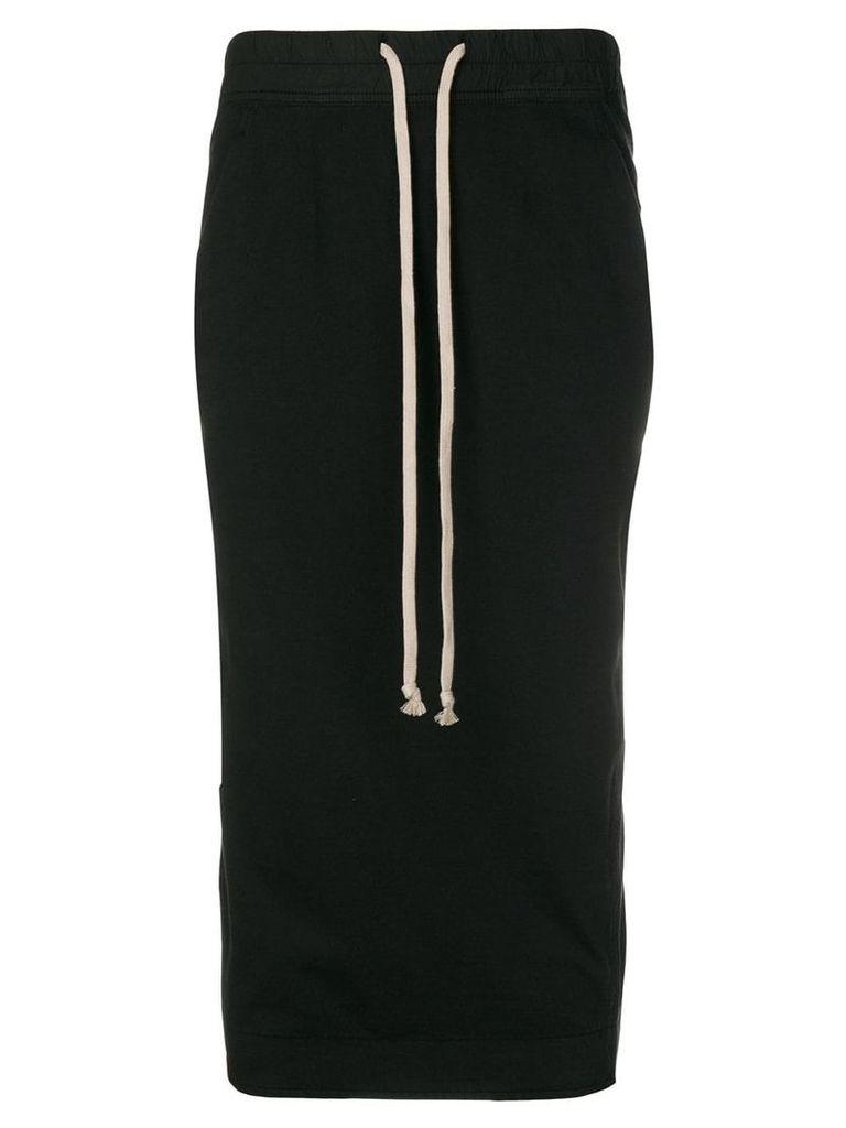 Rick Owens DRKSHDW drawstring-waist midi skirt - Black