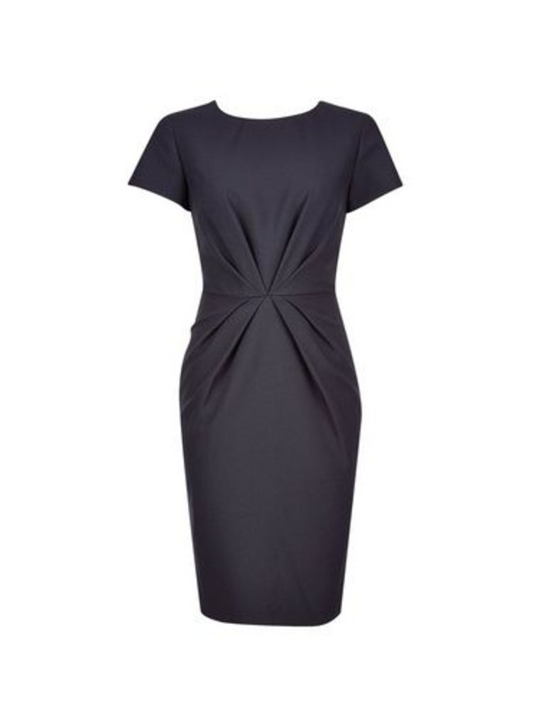 Womens Navy Waist Detail Shift Dress- Blue, Blue
