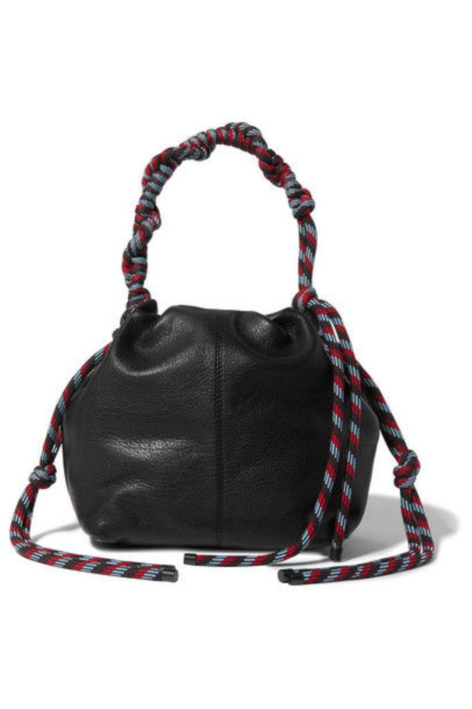 Dries Van Noten - Rope-trimmed Leather Shoulder Bag - Black