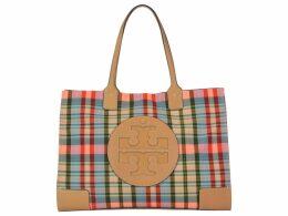 Tory Burch Ella Tote Plaid Bag