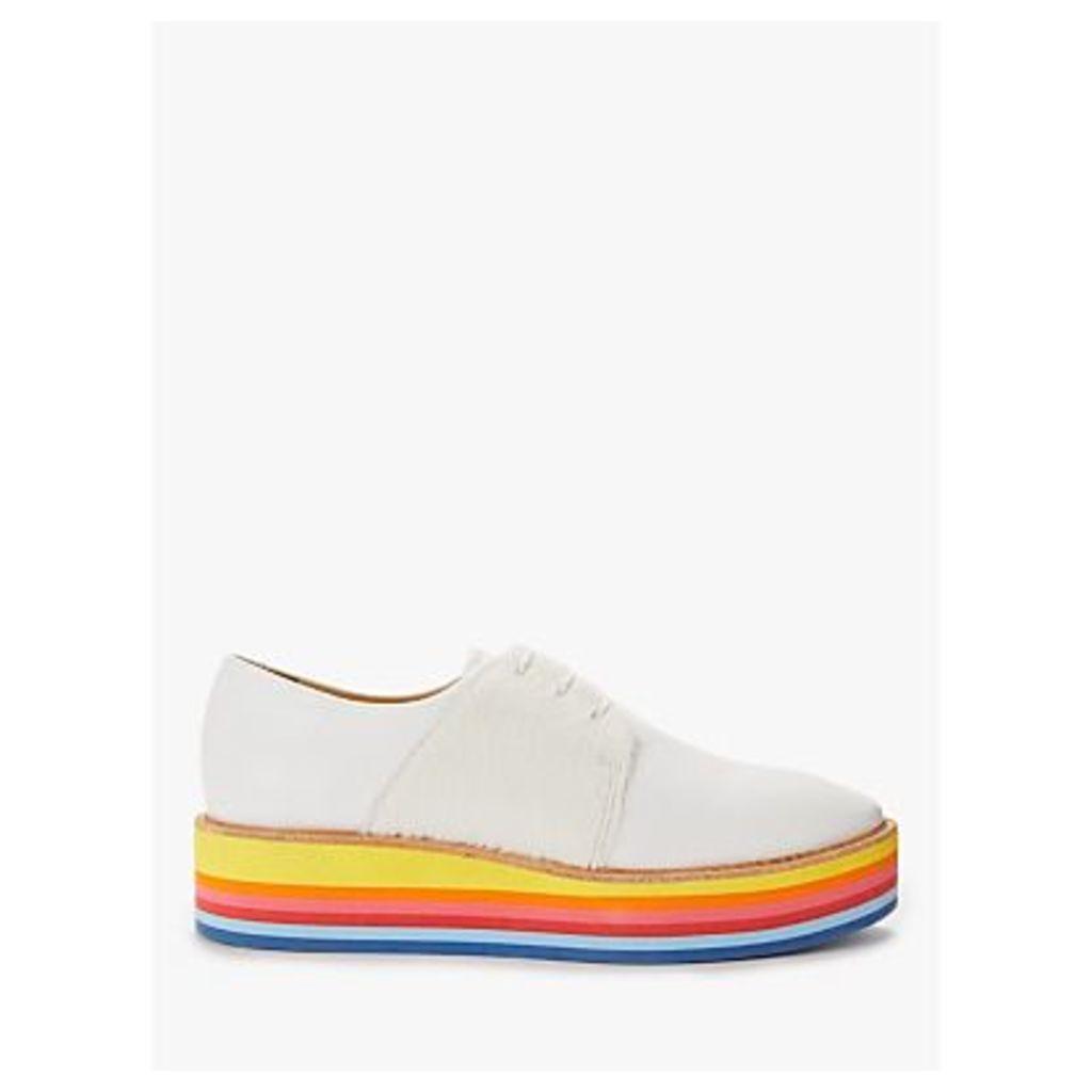 Rogue Matilda Wannabe Flatform Brogues, White/Rainbow