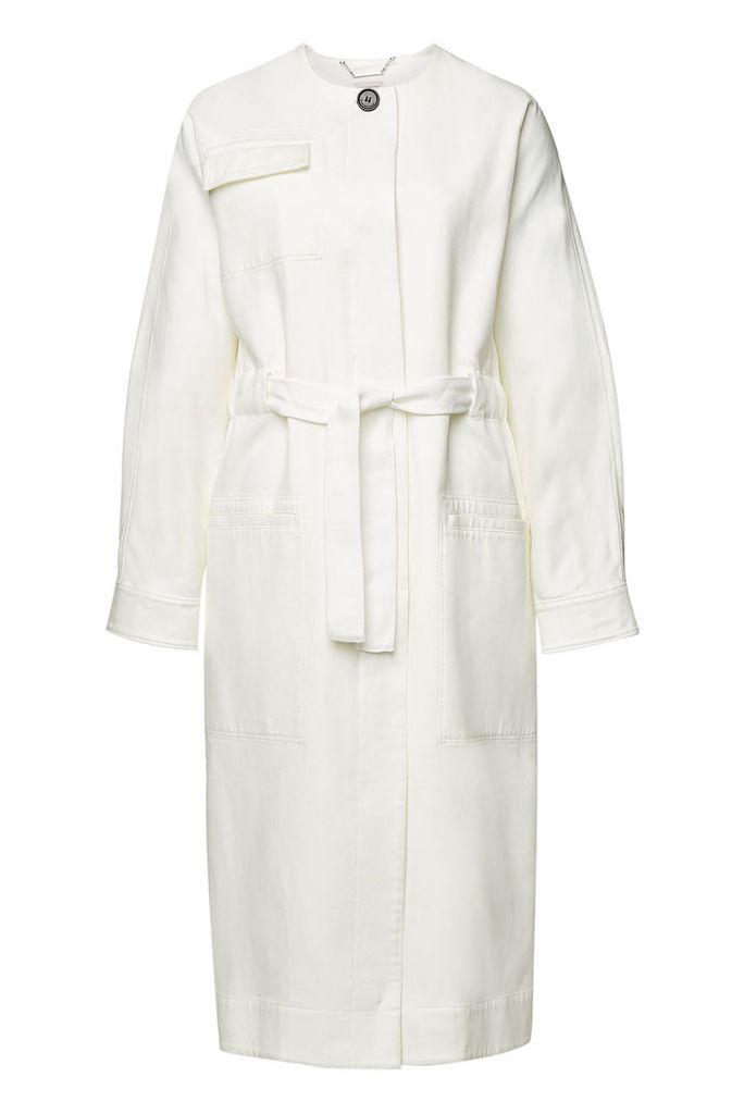 By Malene Birger Cotton Twill Tie-Belt Coat