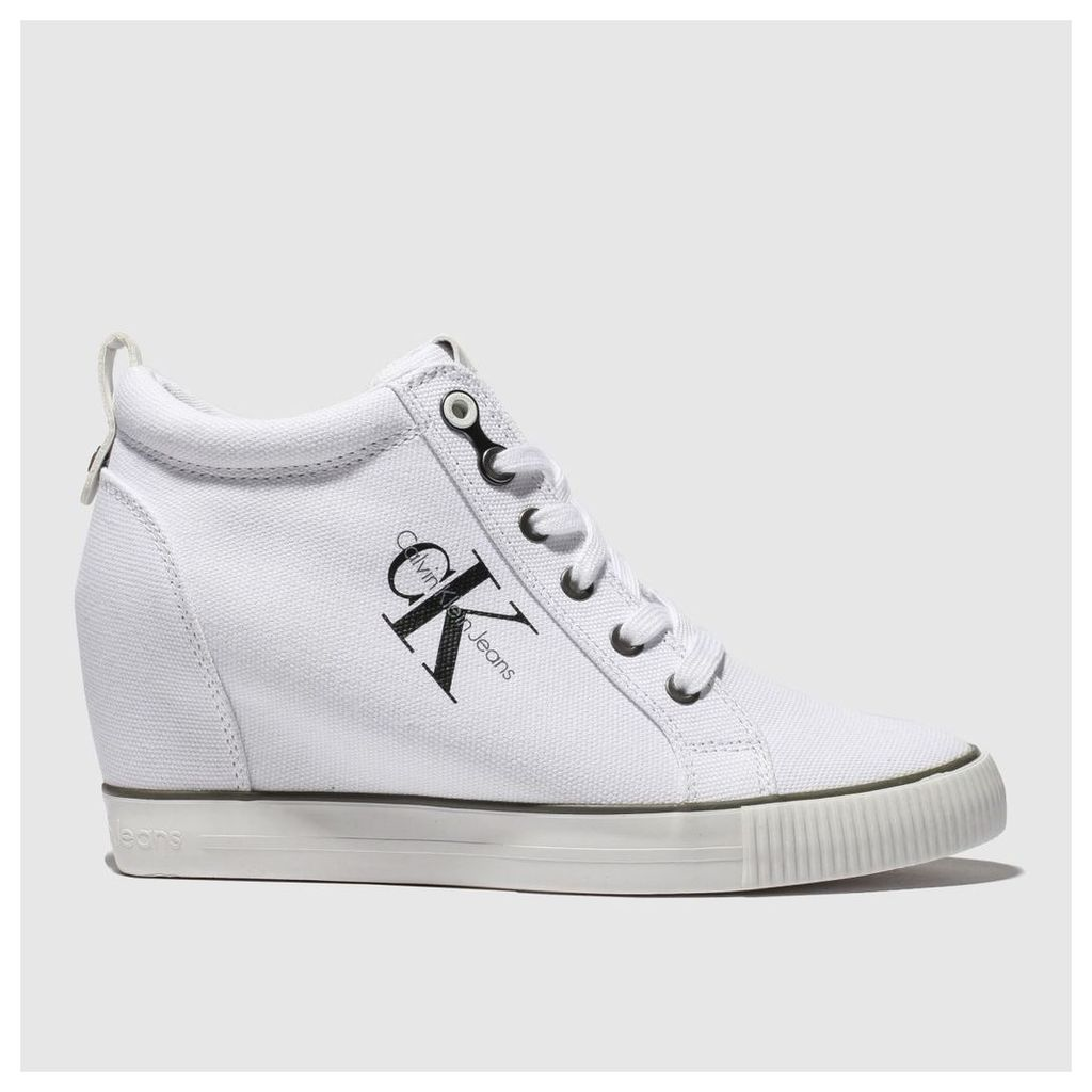 Calvin Klein White Jeans Ritzy Canvas Trainers