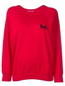 Céline Pre-Owned logo jumper - Red