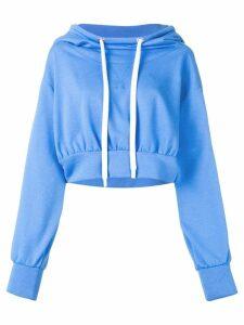 No Ka' Oi cropped sport hoodie - Blue