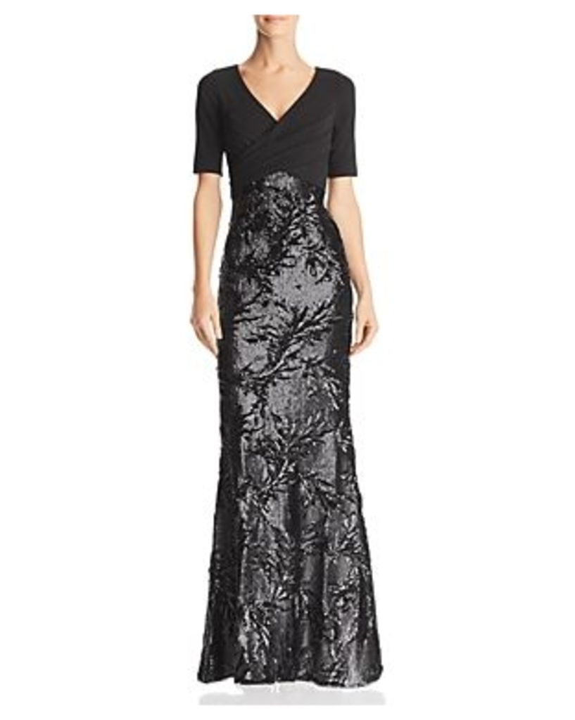 Adrianna Papell Sequined Mermaid Dress