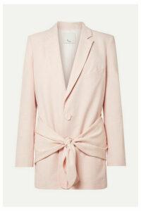 Tibi - Oversized Twill Blazer - Baby pink