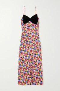 Brandon Maxwell - Wool-crepe Midi Dress - Fuchsia