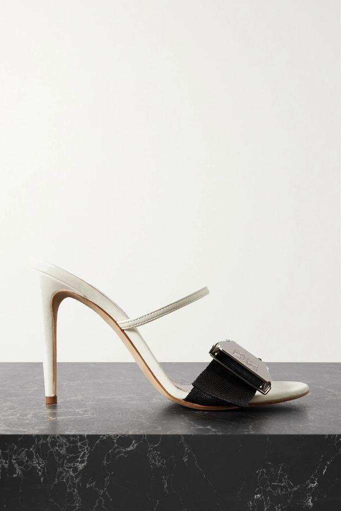 Rebecca Vallance - Holliday Bow-detailed Lyocell And Linen-blend Halterneck Dress - Black