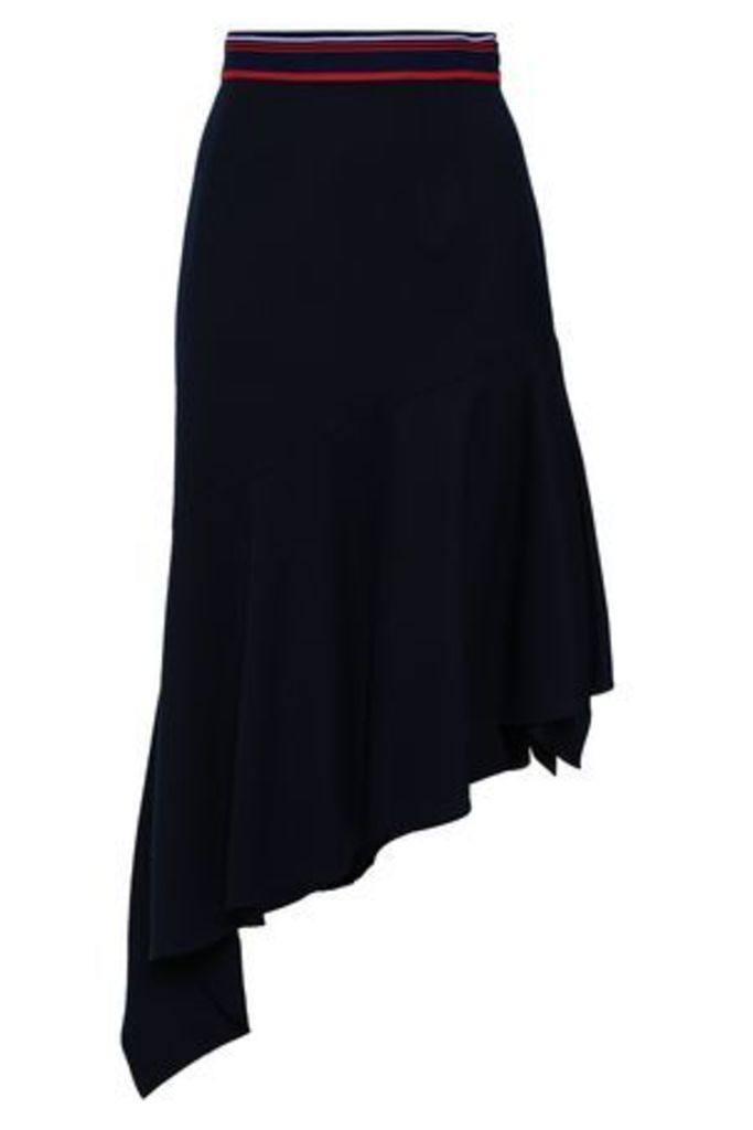 Milly Woman Asymmetric Wool-blend Skirt Navy Size 10