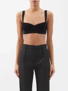Fendi - Floral Embroidered Cotton Dress - Womens - Orange
