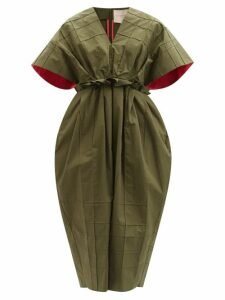 Mes Demoiselles - Diaz Fil Coupé Ruffle Sundress - Womens - Brown