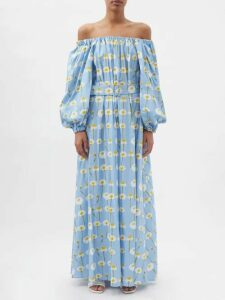 Haider Ackermann - Shawl Lapel Single Breasted Cotton Blend Blazer - Womens - Grey