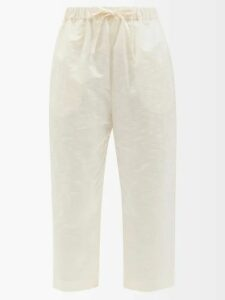 Haider Ackermann - Double Breasted Twill Blazer - Womens - Cream